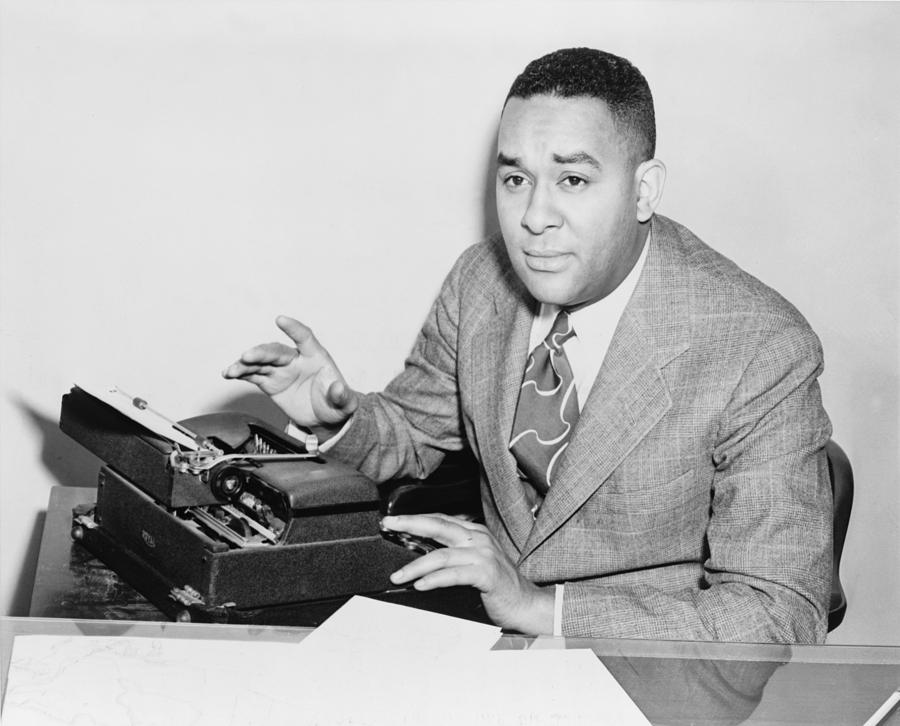 Author Photograph - Richard Wright 1908-1960, Seated by Everett