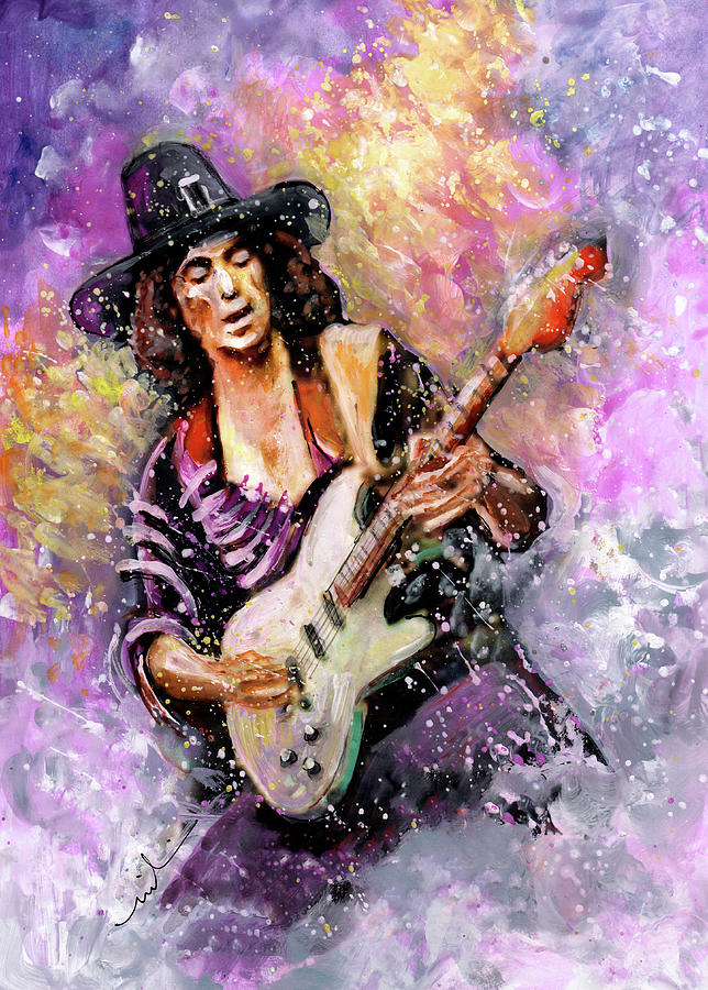 Richie Blackmore Painting By Miki De Goodaboom