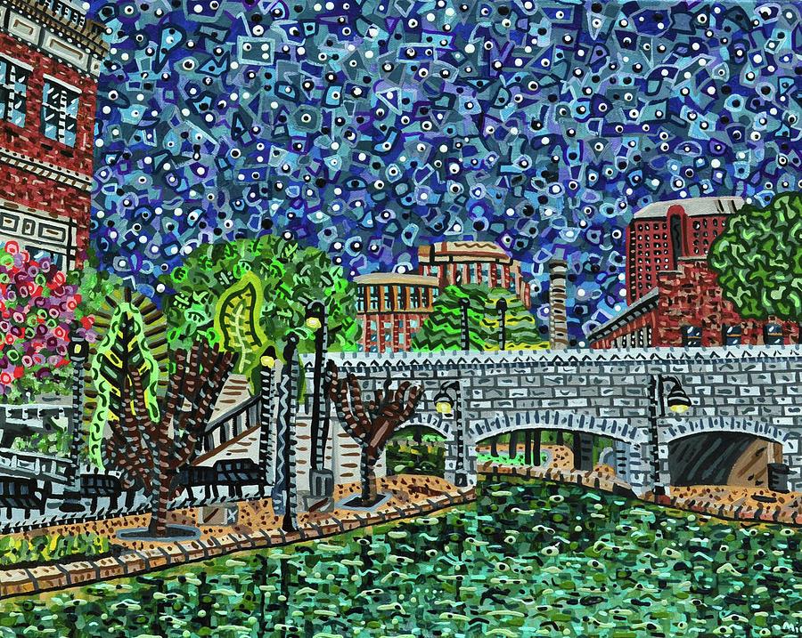 Richmond Canal Walk Painting - Richmond Canal Walk by Micah Mullen