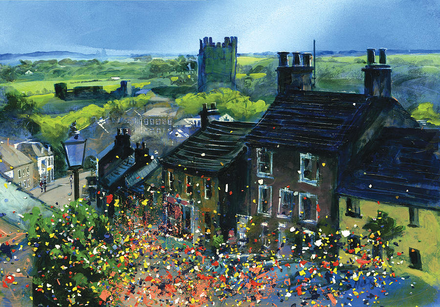 Richmond Painting - Richmond Carnival In Frenchgate by Neil McBride