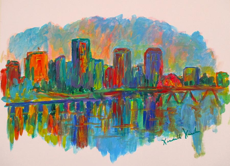 Impressionism Painting - Richmond on the James by Kendall Kessler