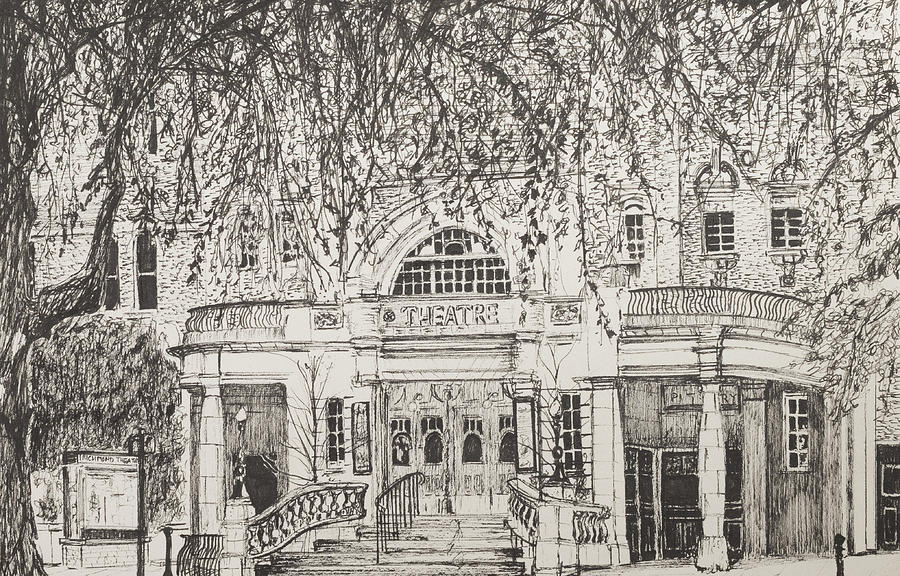 Black Drawing - Richmond Theatre London by Vincent Alexander Booth