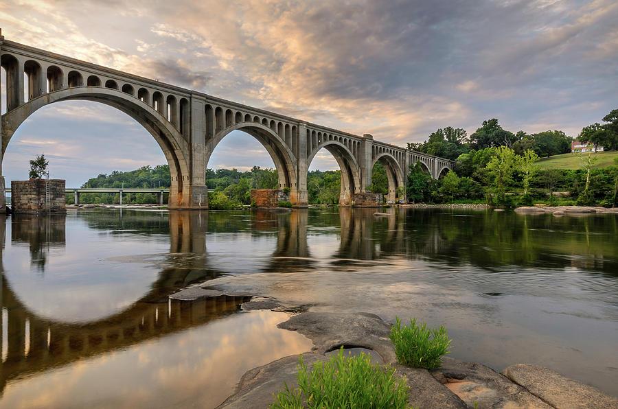 Alexandria Photograph - Richmond Train Bridge by Michael Donahue