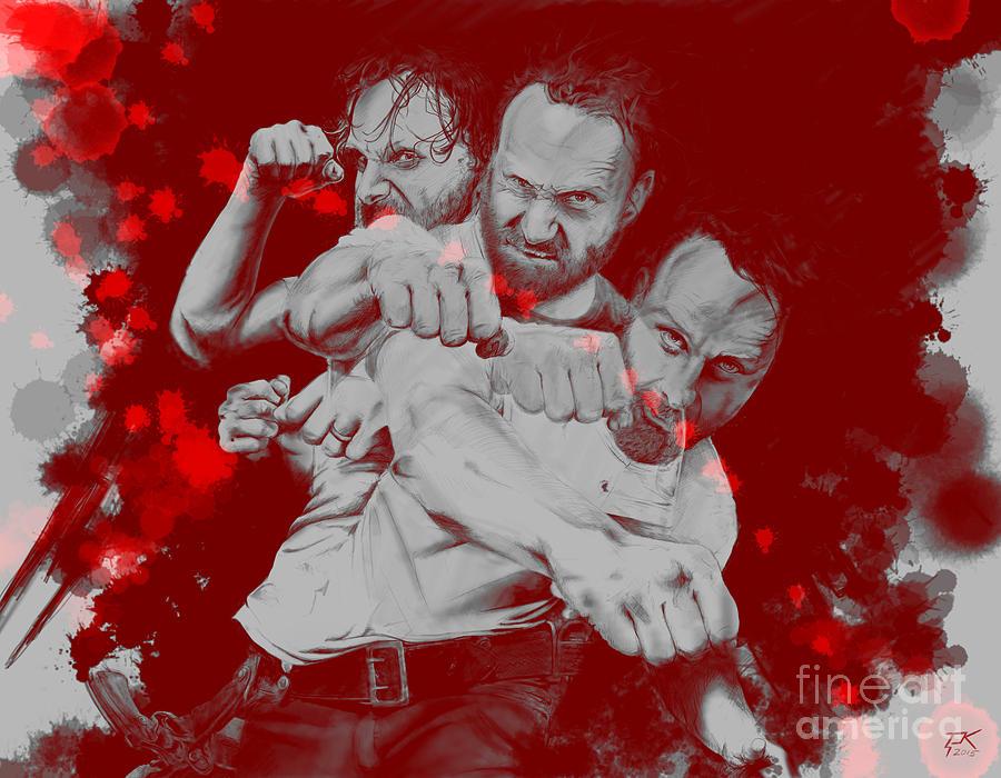 Rick Grimes Digital Art - Rick Grimes by David Kraig