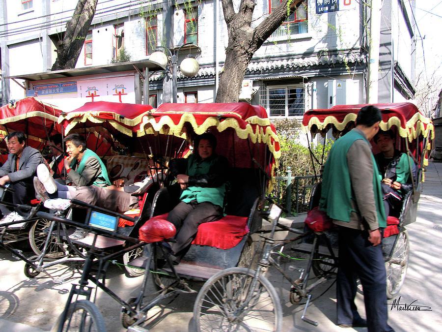 China Photograph - Rickshaws by Marti Green
