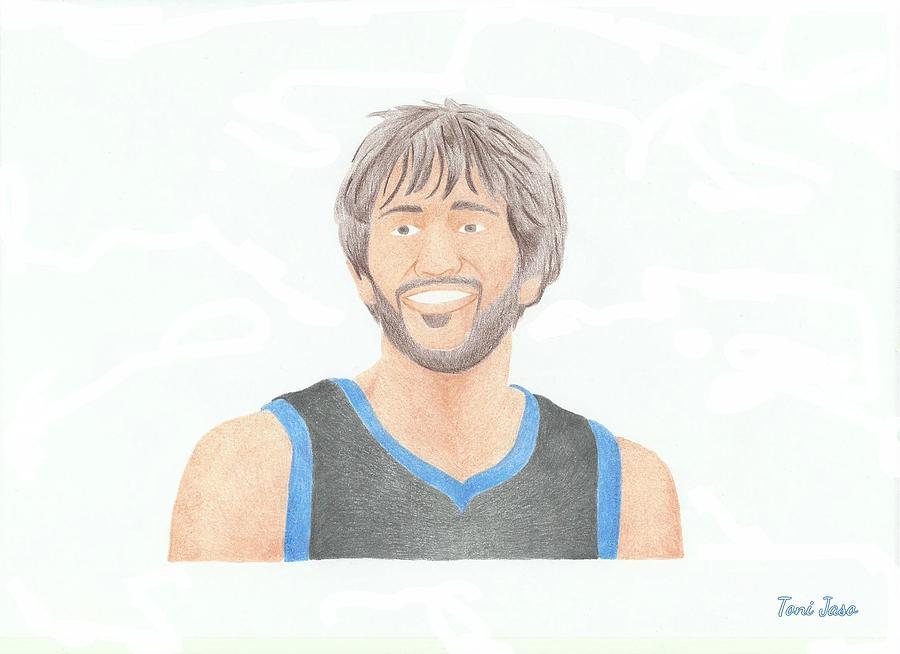 Basketball Drawing - Ricky Rubio by Toni Jaso