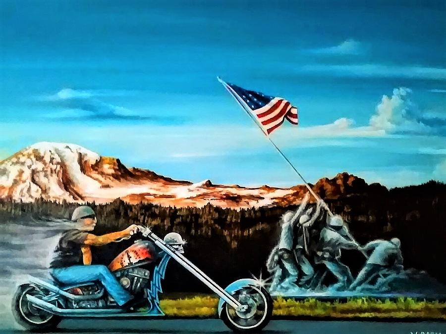 Iwojima Painting - Ride Forever by DC Houle