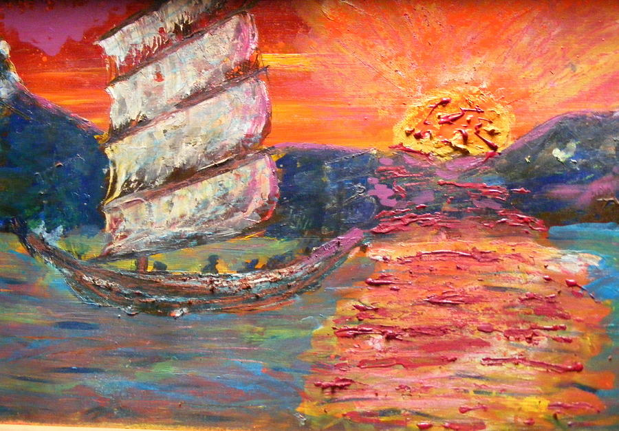 Hot Painting - Ride Into The Sunset by James Campbell