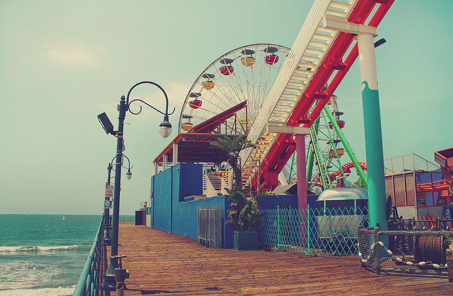 Santa Monica Pier Photograph - Ride It Out by Laurie Search