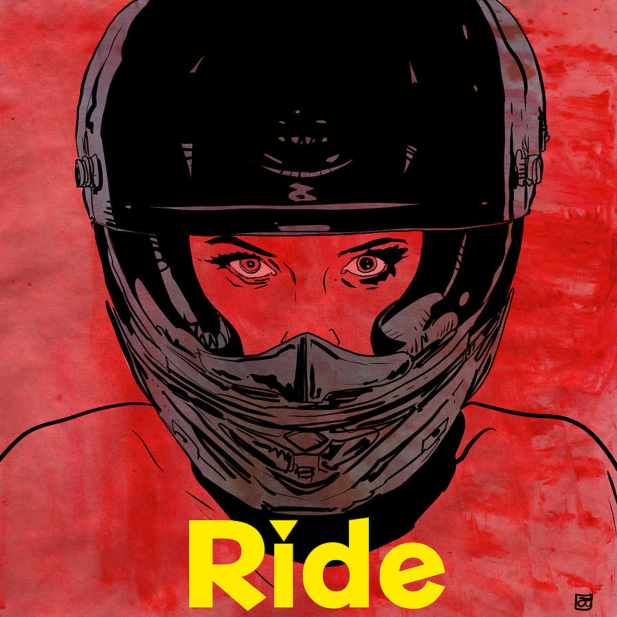 Ride Drawing - Ride / Text by Giuseppe Cristiano