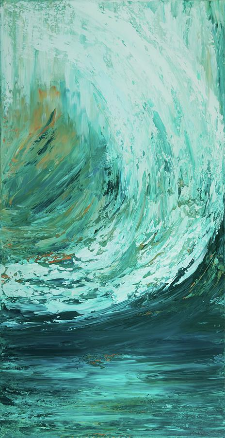 Ocean Painting - Ride The Wave by K Batson Art