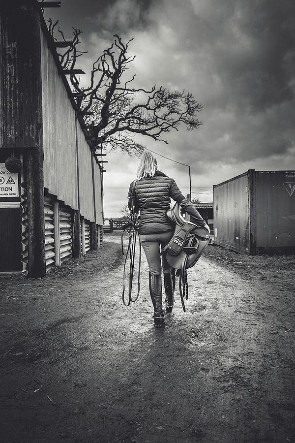 Equine Photograph - Ride Time by Samuel Whitton