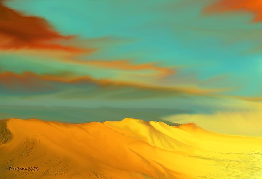 Desert Digital Art - Ridge by Kerry Beverly