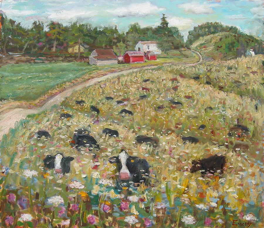Ridge Road Cows by Paul Emory