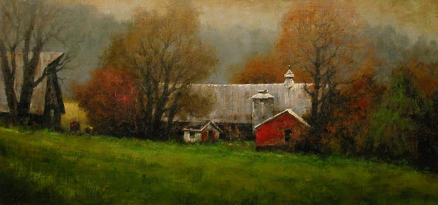 Farm Painting - Ridgefield Farm by Jim Gola