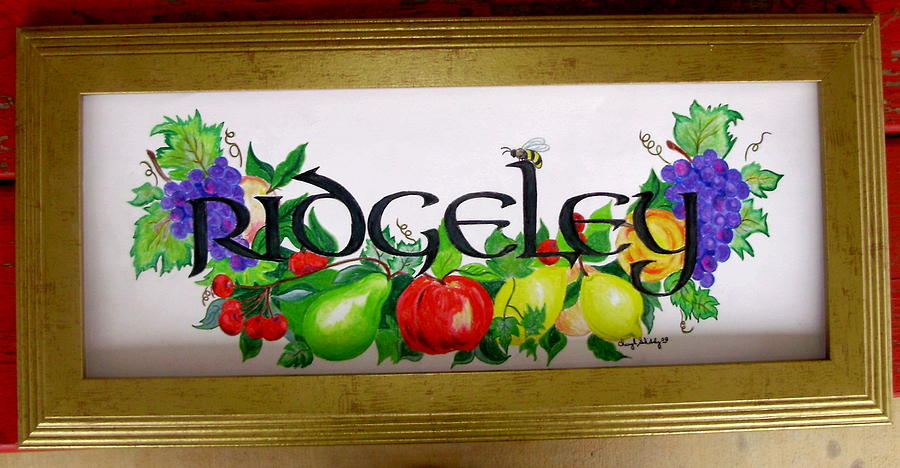 Fruit Drawing - Ridgeley by Cheryl Shibley