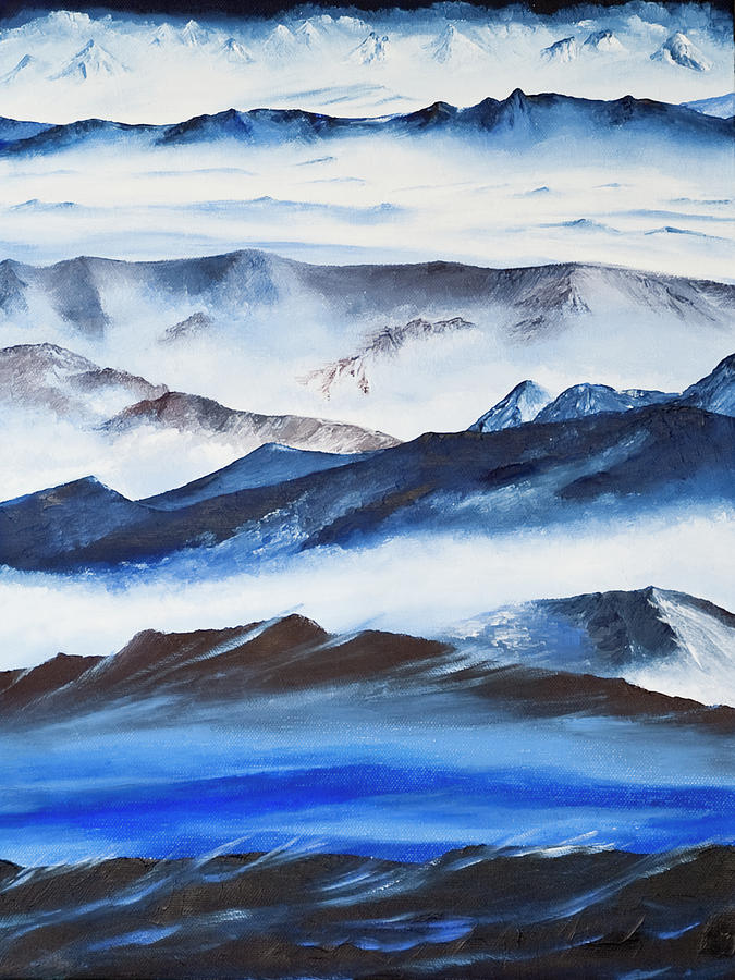 Landscape Painting - Ridgelines by Terry R MacDonald