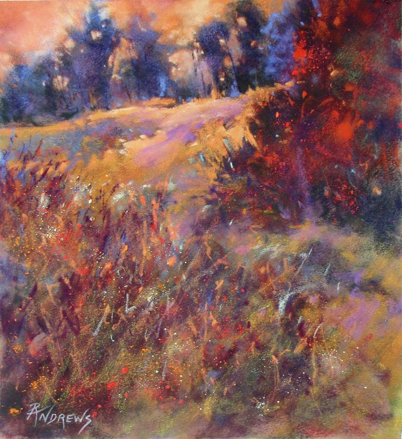 Landscape Painting - Ridgetop Display by Rae Andrews