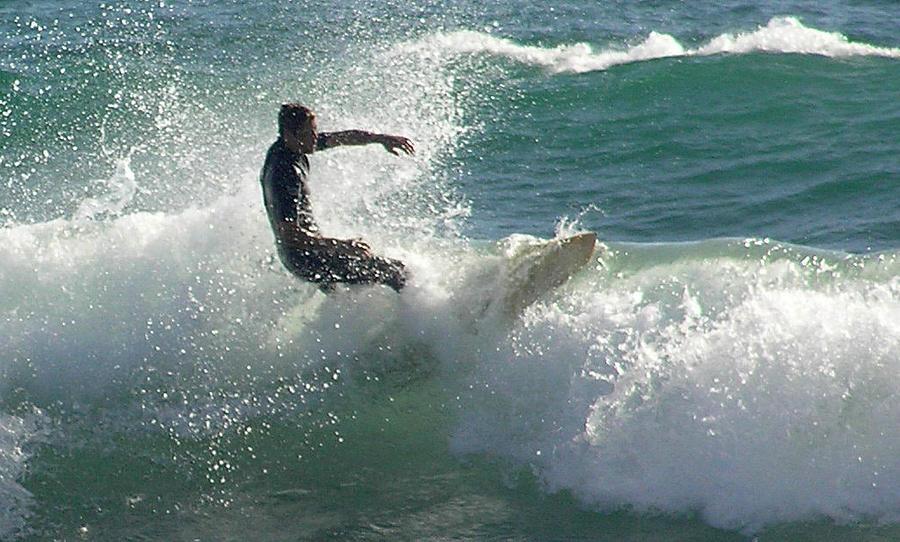 Ridin The Wave Photograph by Chuck Cannova