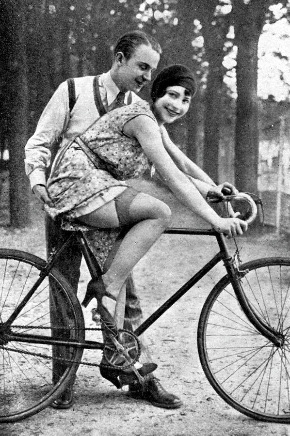 Girl Photograph - Riding Bike Makes Sexy by Steve K
