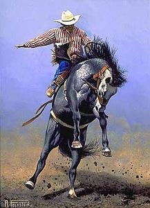 Riding High Painting by Al Feldstein