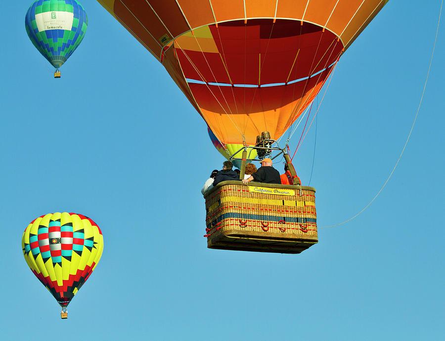 Hot Air Ballons Photograph - Riding High by Arthur Bohlmann