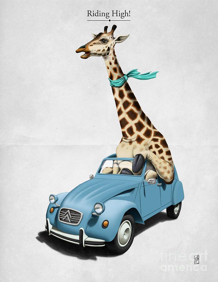 Illustration Digital Art - Riding High by Rob Snow