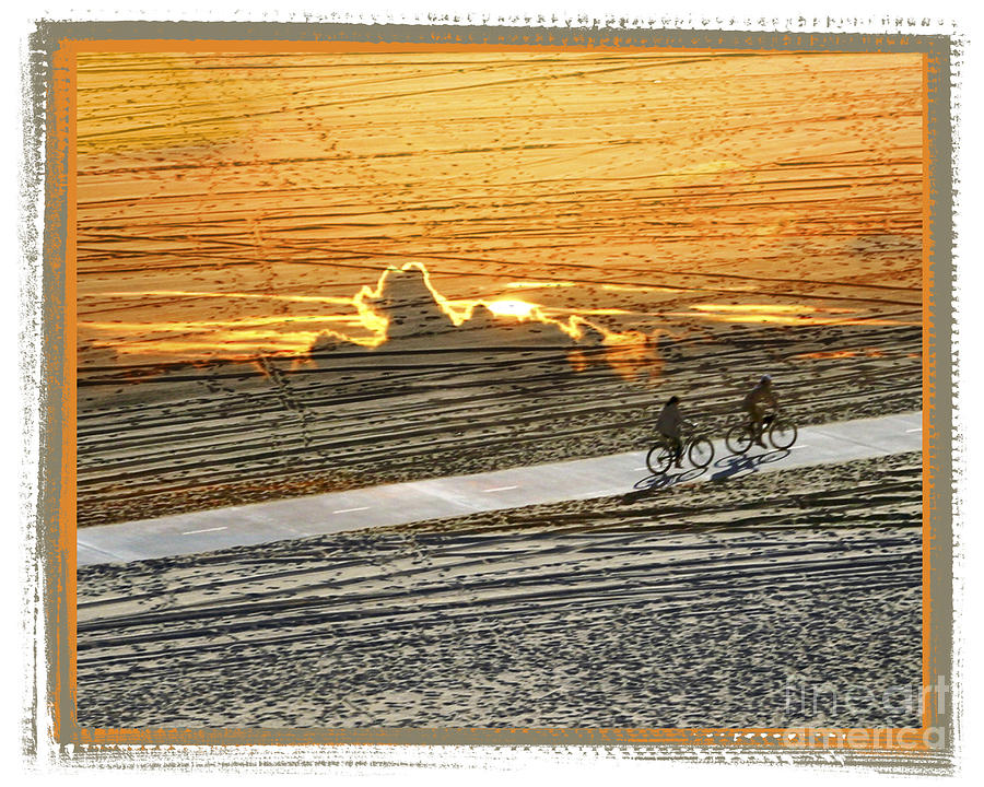 Beach Digital Art - Riding Off Into The Sunset by Chuck Brittenham