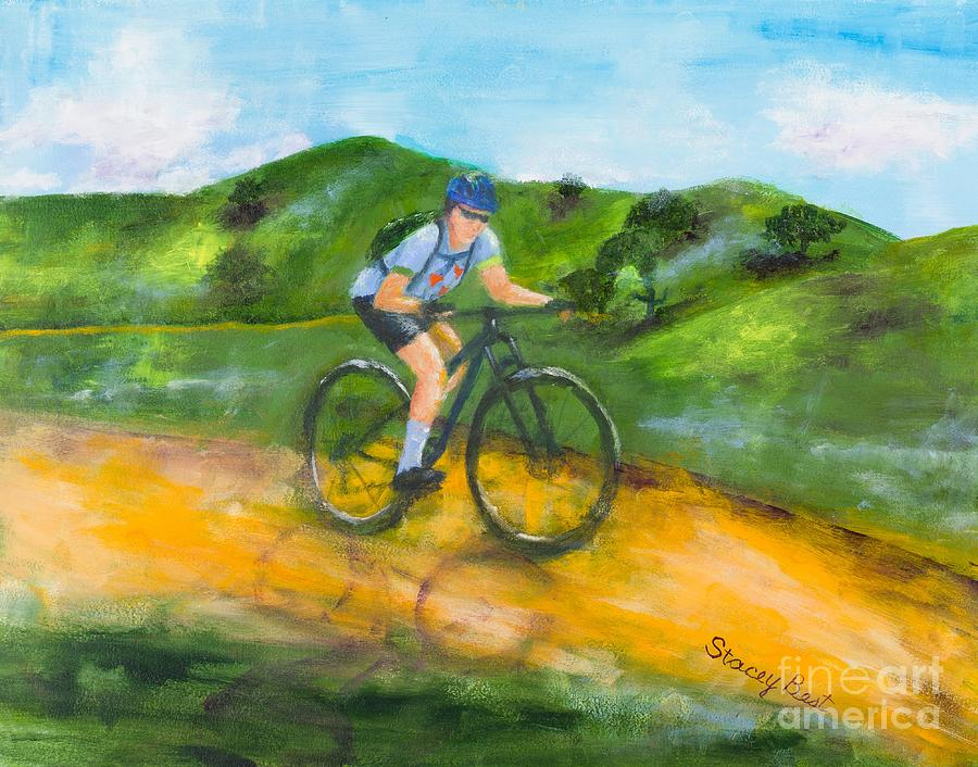 Riding On The Jaun Buatista De Anza Trail Painting By Stacey Best