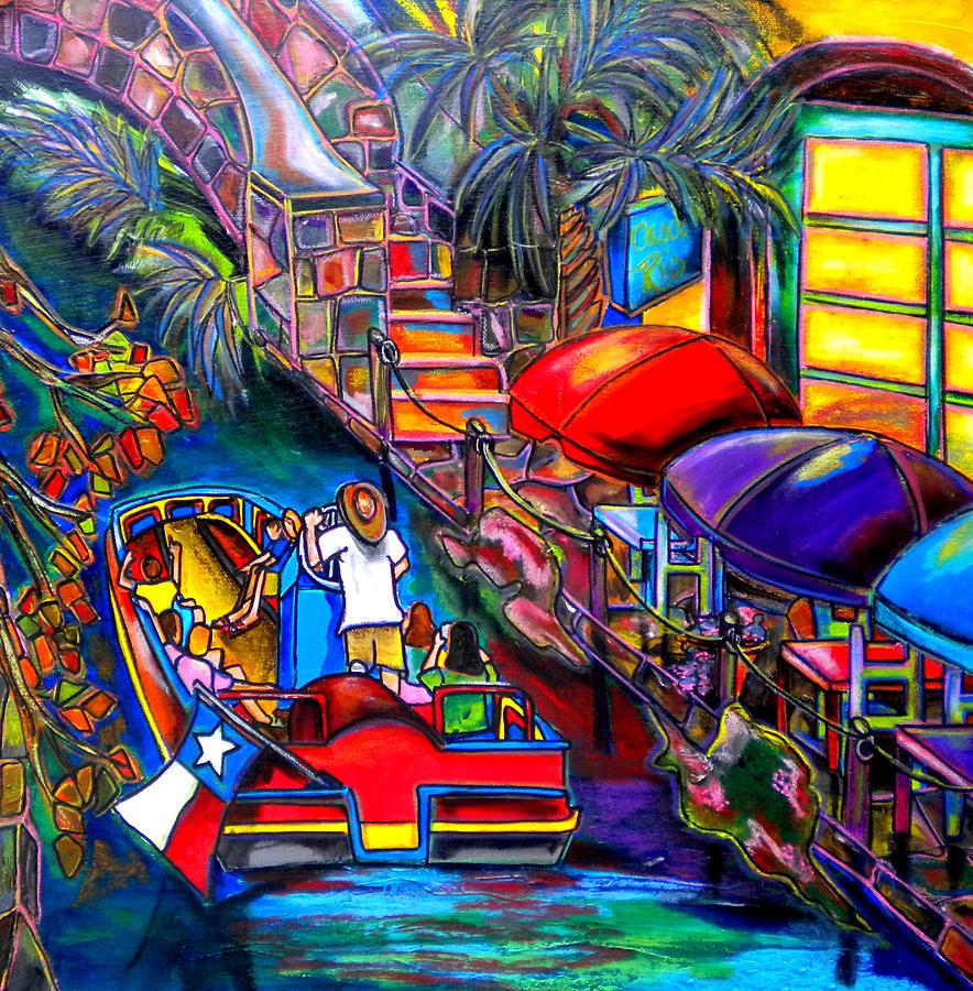 San Antonio Painting - Riding The River by Patti Schermerhorn