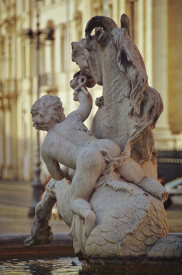 Italy Photograph - Cherub The Sea-horse by JAMART Photography