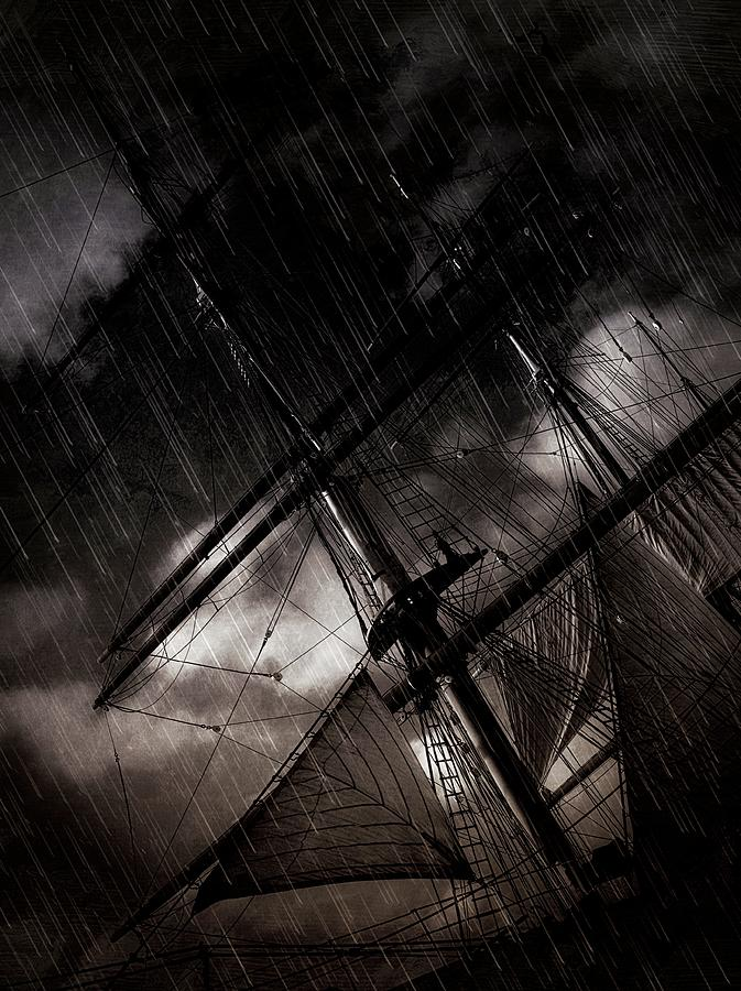 Ship Photograph - Riding The Storm by Scott Fracasso