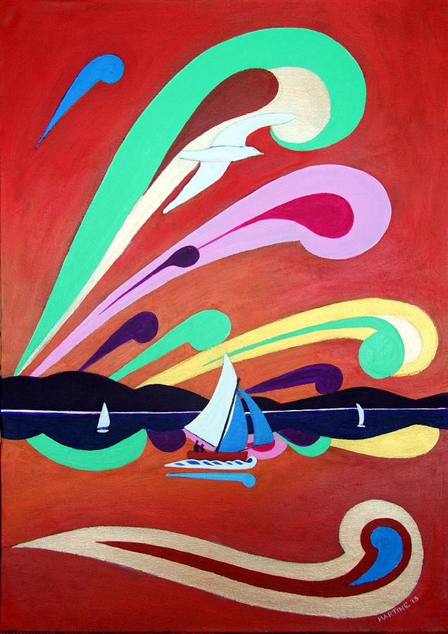 Riding The Wind Painting - Riding The Wind by Martine Murphy