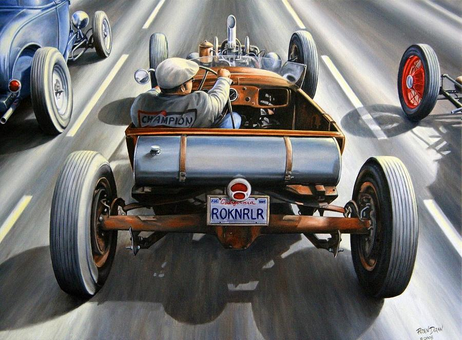 Hot Rod Race Paintings | Fine Art America