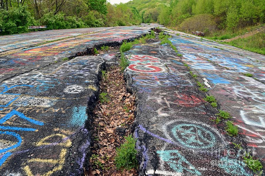 May Photograph - Rift In The Former Route 61 by Ben Schumin