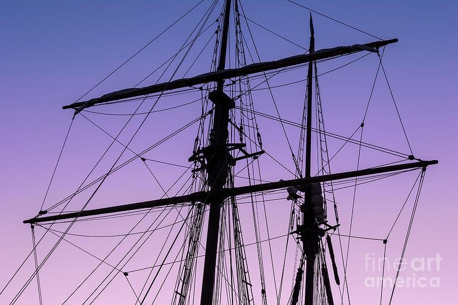 Tall Ships Photograph - Rigged And Ready by Christopher Marona