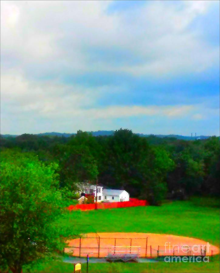 Right Painting - Right Field And Green Meadows by PrettTea Art Gallery By Teaya Simms