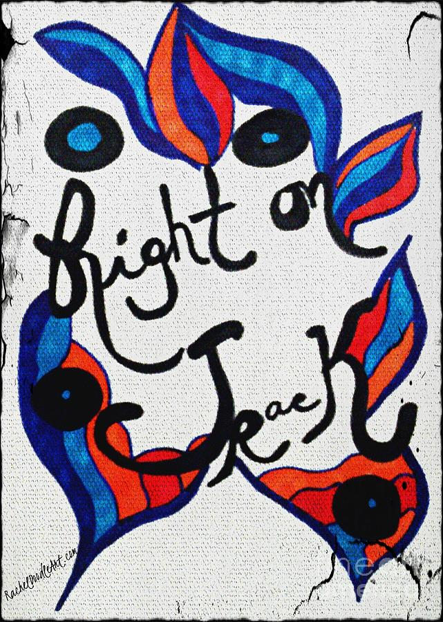 Doodle Drawing - Right On Track by Rachel Maynard
