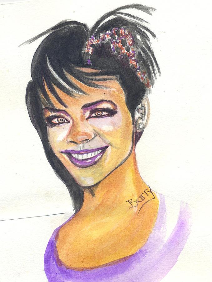 Music Painting - Rihanna by Emmanuel Baliyanga