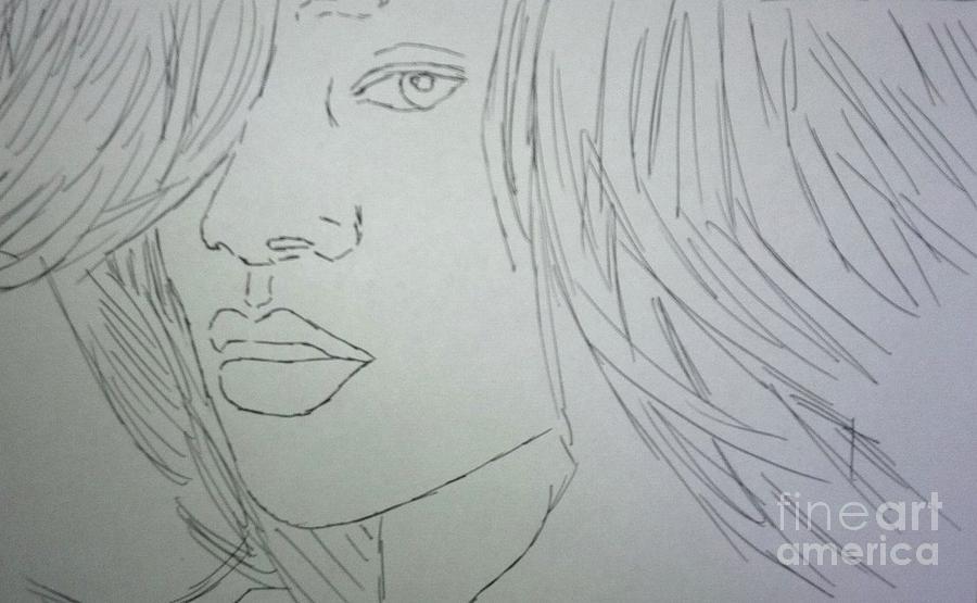 Rihanna Drawing - Rihanna by Kristen Diefenbach