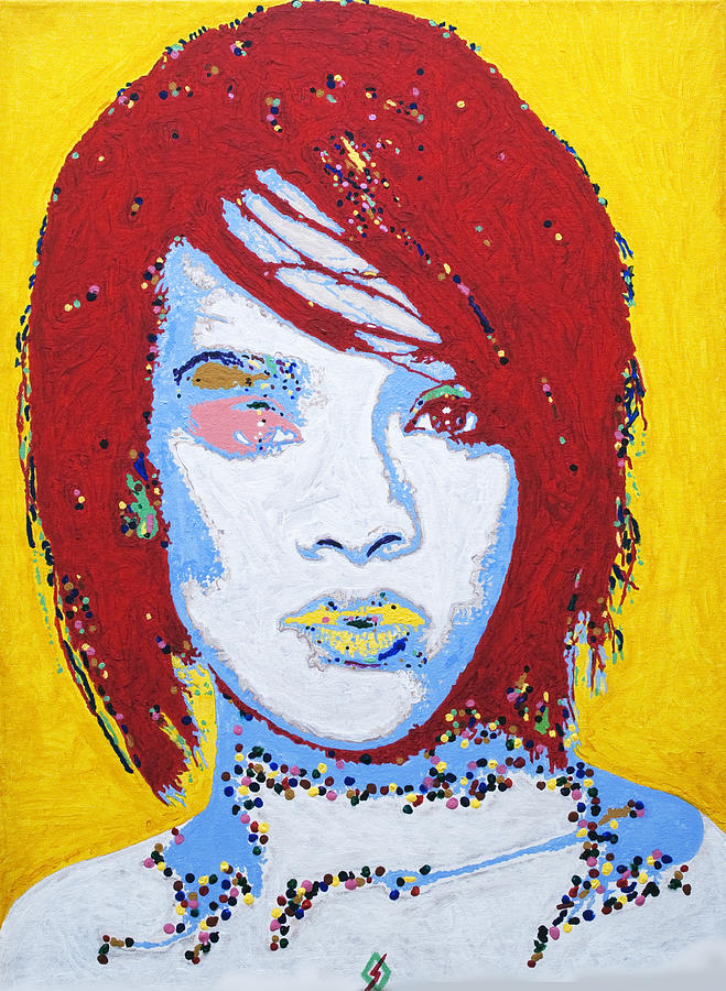 Rihanna Painting - Rihanna  by Stormm Bradshaw