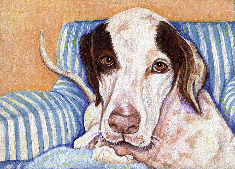 Dog Painting - Riley by Michelle Young