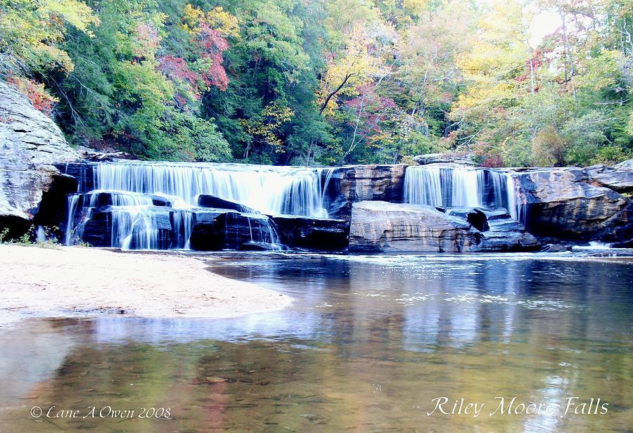 Oconee County Sc Photograph - Riley Moore Falls Oconee County Sc by Lane Owen