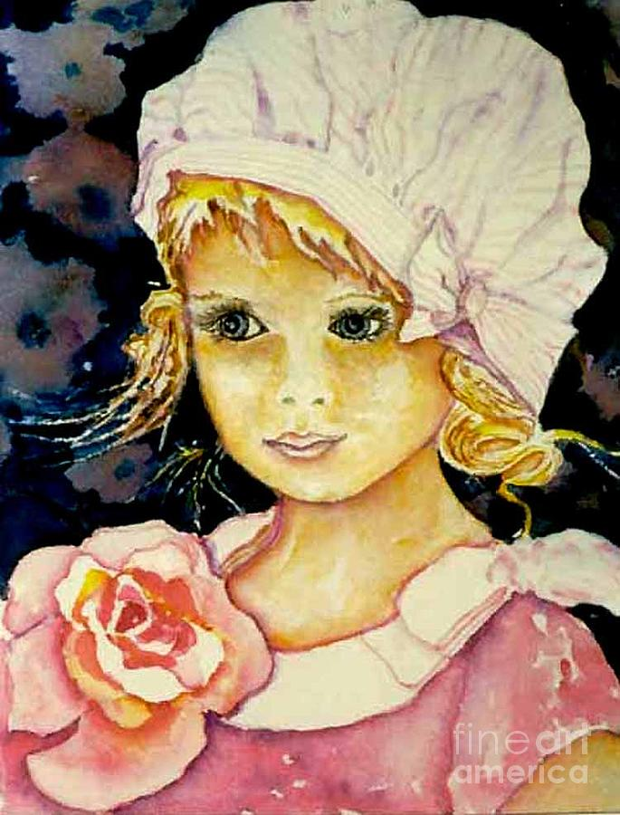 Girl Painting - Riley by Norma Boeckler