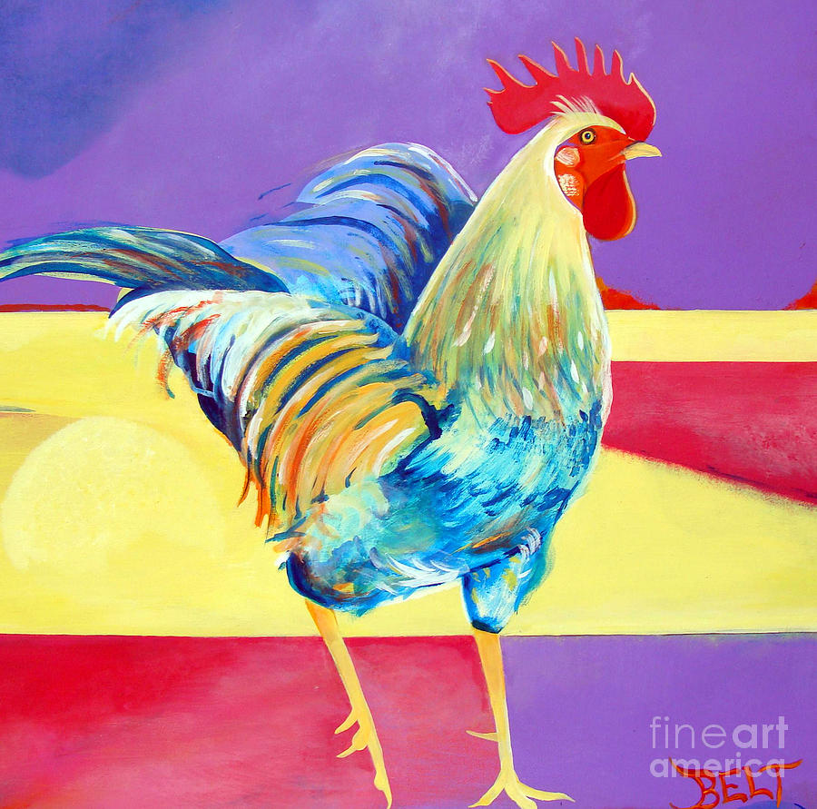 Rooster Painting - Riley The Rooster by Christine Belt