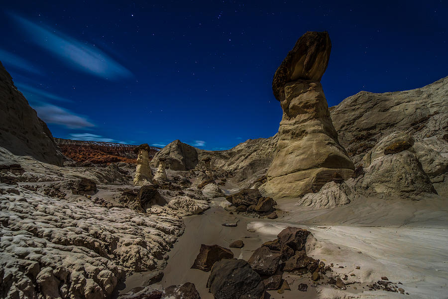 Arizona Photograph - Rim Rock Toadstools Grand Staircase National Monument  by Larry Marshall