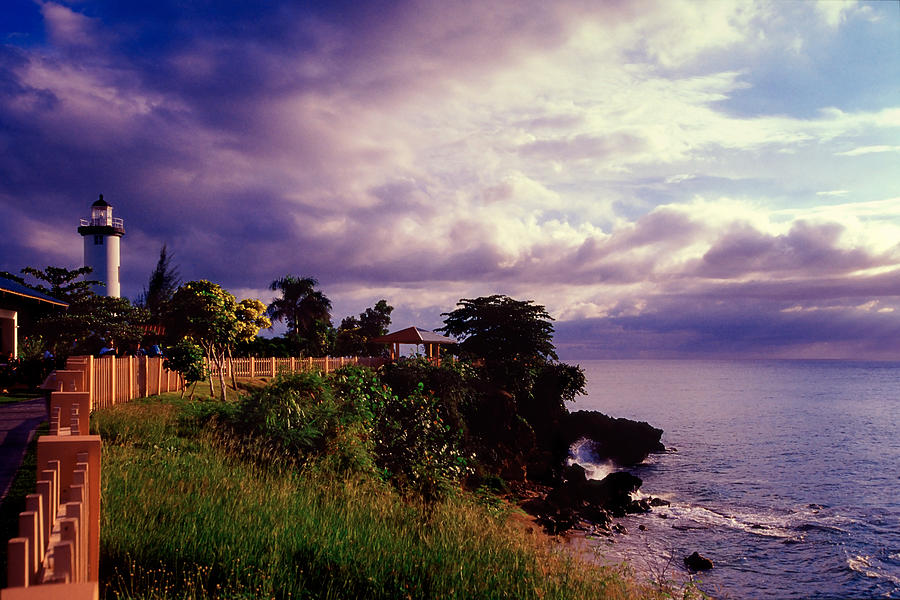 Architecture Photograph - Rincon Lighthouse Puerto Rico by George Oze