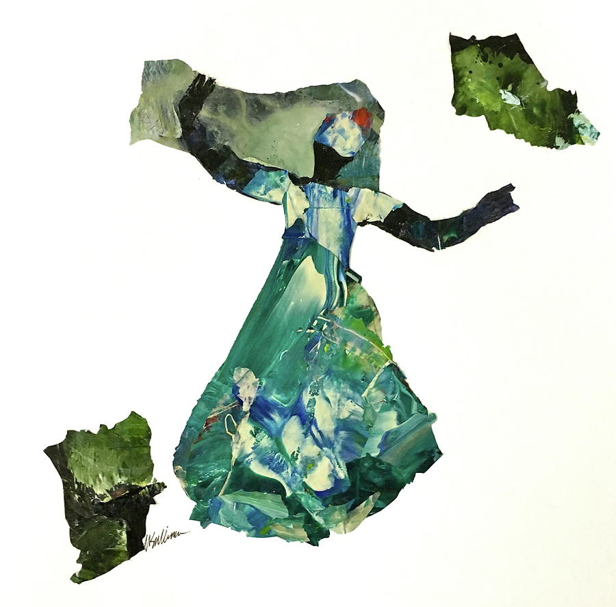 Gullah Geechee Painting - Ring Shout Dancer II by Mary Sullivan