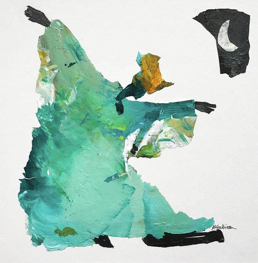 Gullah Painting -  Gullah Ring Shout Dancer by Mary Sullivan