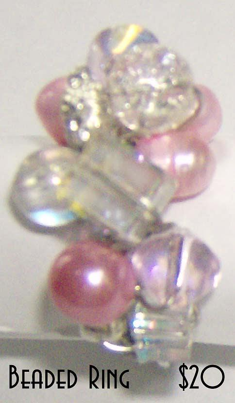 Jewelry Jewelry - Ring With Freshwater Pearls Crystal And Silver by Michelle Lake
